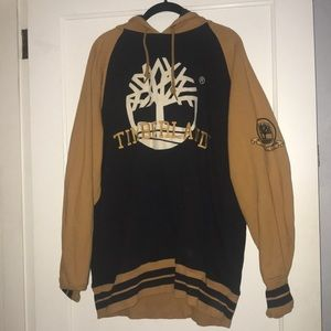 Timberland black and gold hoodie sweatshirt